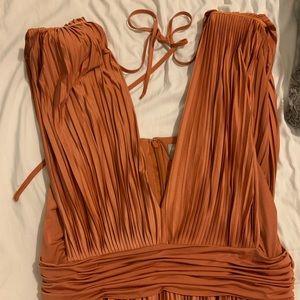 ASOS dress. Midi Length. Shoulder pads. Like new